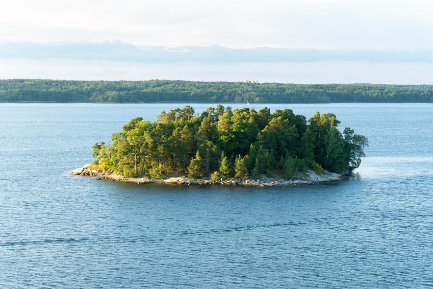 Insel in den Schären vor Stockholm – Schweden